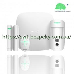 Стартовый набор охранной сигнализации Ajax StarterKit Cam white