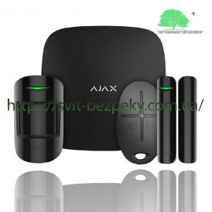 Стартовый набор охранной сигнализации Ajax StarterKit Plus black