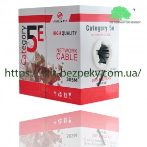 "Кабель ""витая пара"" Kraft FTP cat. 5E 4x2x0.5 Cu LDPE outdoor (305m)"