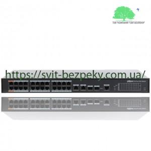24x портовый управляемый PoE коммутатор Dahua DH-PFS4226-24ET-360