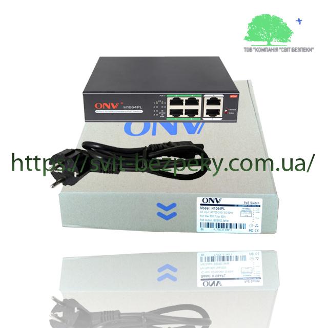 ONV ONV-H1064PL оригинальный 4x портовый PoE коммутатор