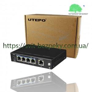 4x портовый PoE коммутатор Utepo UTP1-SW0401-TP60