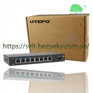 8x портовый PoE коммутатор Utepo UTP1-SW0801-SP120