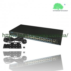 24x портовый PoE коммутатор Utepo UTP1-SW24-TP420