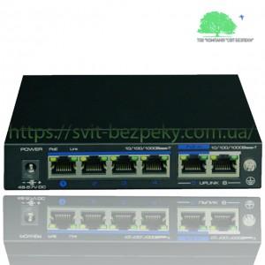 4x портовый PoE коммутатор Utepo UTP3-GSW04-TPD60