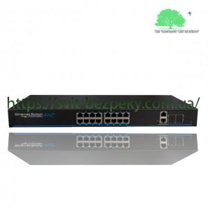 16x портовый управляемый PoE коммутатор Utepo UTP3-SW16-TP300