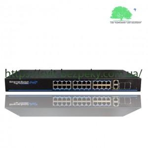 24x портовый управляемый PoE коммутатор Utepo UTP3-SW24-TP420