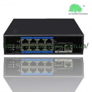 8x портовый PoE коммутатор Utepo UTP7108E-POE