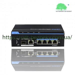 4x портовый PoE коммутатор Utepo UTP7204E-POE-A1