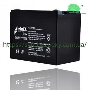 Аккумуляторная гелевая батарея TriniX Gel 12V 75Ah