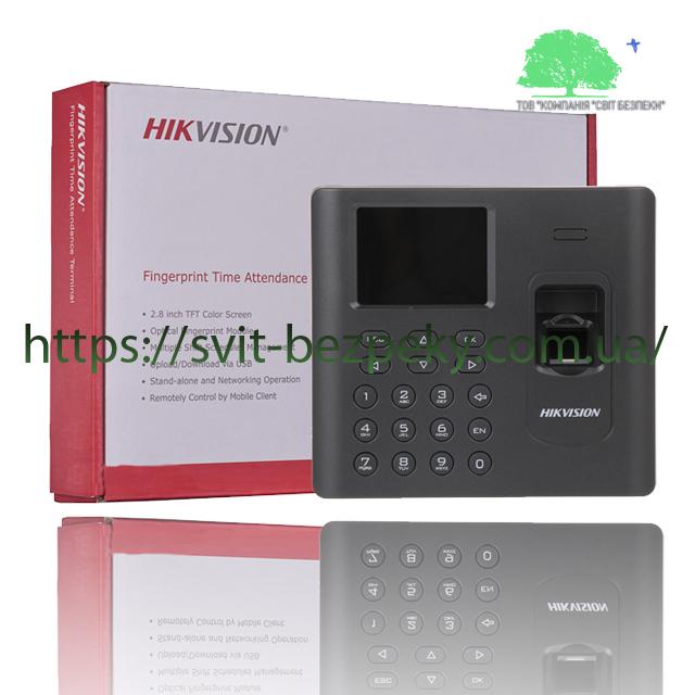 Биометрический терминал учета рабочего времени Hikvision DS-K1A802MF
